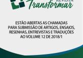 EDITAL DE CHAMADA PARA TRABALHOS, VOLUME 12/2018.1