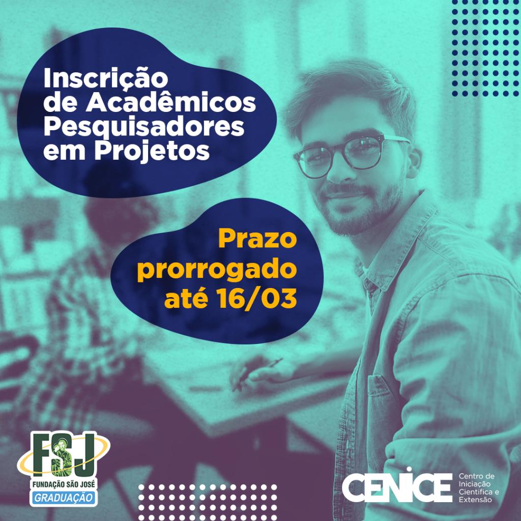 Edital IC – Inscrição de Acadêmicos – Prazo Prorrogado